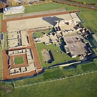 Aerial View, Wroxeter Roman City, Wroxeter, Shropshire