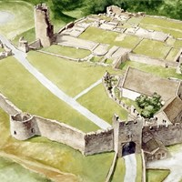 Aerial View, Farleigh Hungerford Castle, Farleigh Hungerford, Somerset
