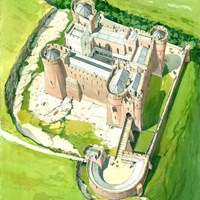 Aerial View, Goodrich Castle, Goodrich, Herefordshire