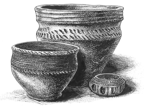 Reconstruction Drawing of Bronze Age Pottery