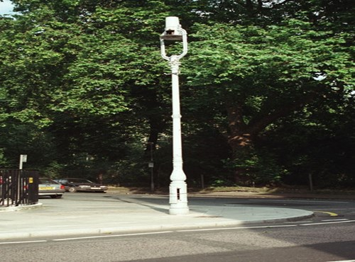 Lamp post at corner of Gordon Square & Gordon Street, Camden, Greater London