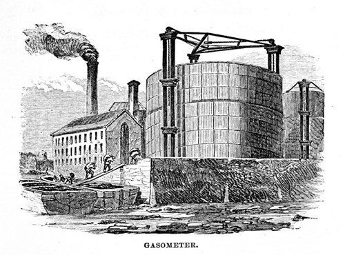 Gasometer from The Boys' Book of Industrial Information