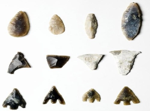 Stone Age and Bronze Age Types of Arrowhead