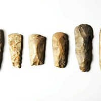 Neolithic Polished Flint Axes from Grimes Graves, Norfolk
