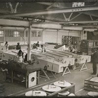 Factory producing iron lungs, Morris Motor Works, Hollow Way, Cowley, Oxfordshire