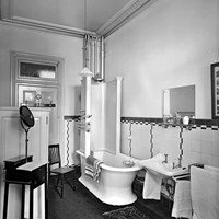 Bathroom in the Hotel Metropole, Westminster, London