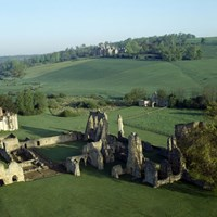 Bayham Old Abbey, Aerial view