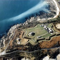 Aerial View of Pendennis Castle, Falmouth, Cornwall