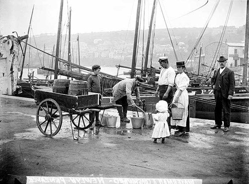 Water carrier, Newlyn Harbour, Penzance, Cornwall
