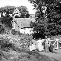 Family group at Laflowder, Mullion, Cornwall