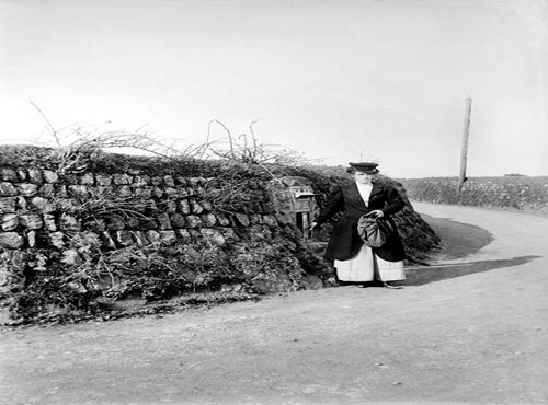 Post lady, Kerrier, Cornwall