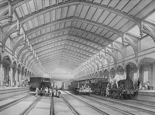 Train shed at Temple Meads Station, Bristol