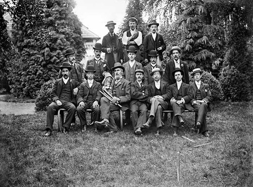 A group portrait, Bugle Horn Hotel, Aylesbury, Buckinghamshire