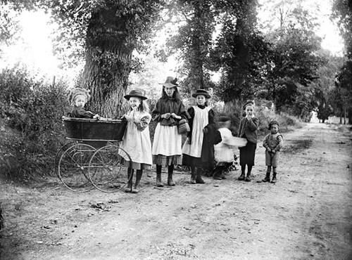 Children playing, Dinton, Buckinghamshire