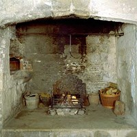 Kitchen hearth, Portland Castle, Portland, Dorset