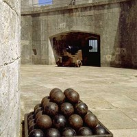 Cannonballs at Portland Castle, Portland, Dorset