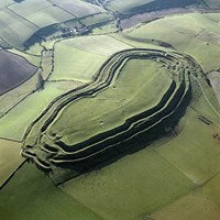 Maiden Castle Iron Age Hillfort, near Dorchester, Dorset