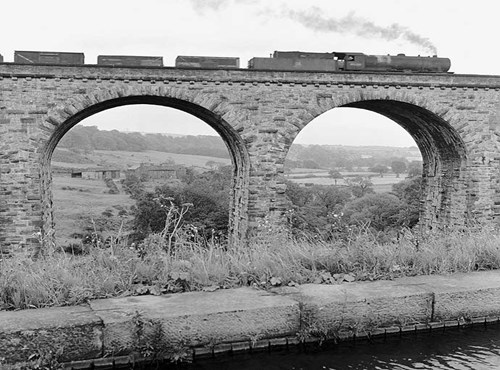 Railway viaduct, Marple, Greater Manchester