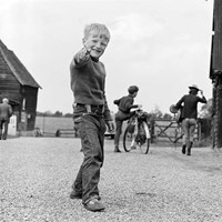 Boy with toy gun, Hertfordshire