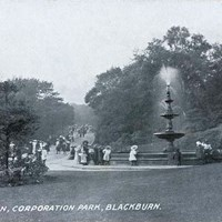 Fountain, Corporation Park, Blackburn, Lancashire