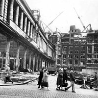 Bomb damage at Great Charlotte Street, Liverpool