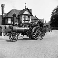 Burrell traction engine at the White Hart, Costessey, Norfolk