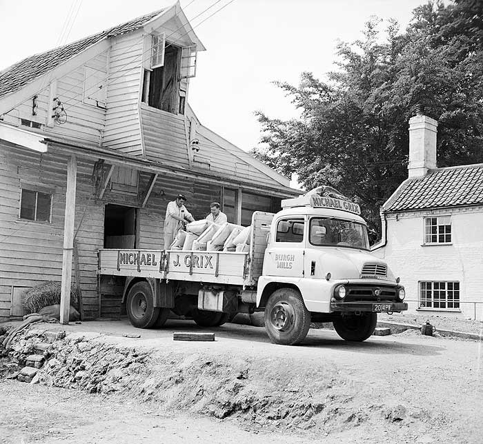 Loading the lorry at Burgh Mill, Norfolk