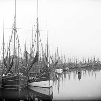 Fishing boats at Grimsby, North Lincolnshire