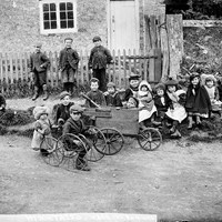 A group of children at Greatworth, Northamptonshire
