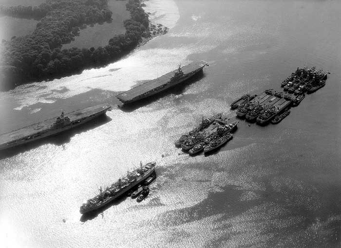 Aircraft carriers on the River Tamar, Plymouth