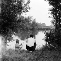 Fishing near Walton-on-Thames, Surrey