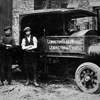 Delivery men, Osram Glass Works, Newcastle upon Tyne, Tyne and Wear