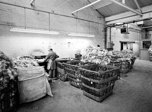 Wool sorting, Cumberland Works, Manningham, West Yorkshire