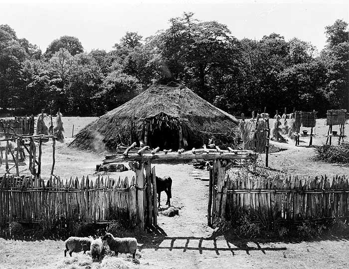 Reconstruction of an Iron Age village, Wiltshire
