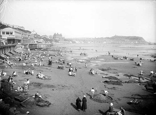 The beach at Scarborough, North Yorkshire