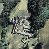 Aerial View of Fountains Abbey, North Yorkshire