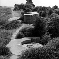 Gun mounts at Beacon Hillfort, Harwich, Essex