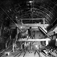 Excavating the Rotherhithe Tunnel, Rotherhithe, London
