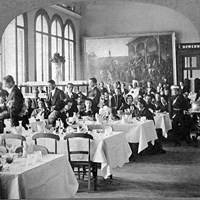 Dining room, 1862 Exhibition, Kensington, London