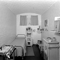 A cell in Holloway Prison, Parkhurst Road, London