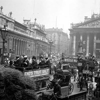 Bank of England and the Royal Exchange, City of London