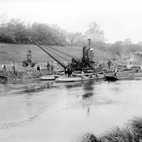 Dredging on the River Thames at Culham, Oxfordshire