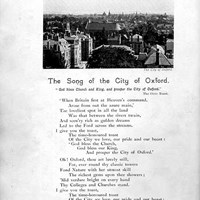 The Song of the City of Oxford