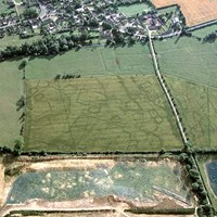 Earthworks and cropmarks at Standlake, Oxfordshire