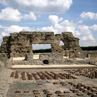 Bath House Ruins, Wroxeter Roman City, Wroxeter, Shropshire