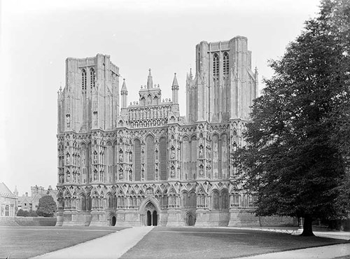 West front of Wells Cathedral, Wells, Somerset