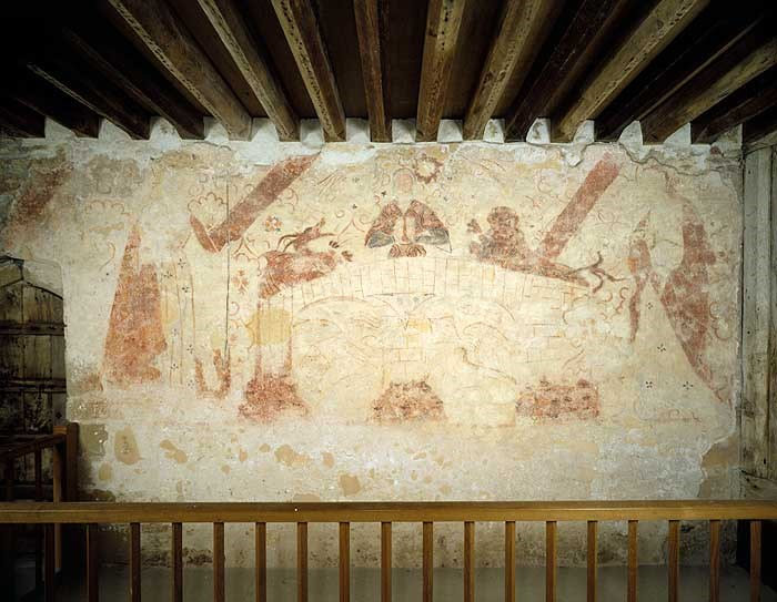 Mural at Cleeve Abbey, Washford, Somerset