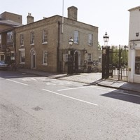 Downing College Gate Lodge and Gates, Cambridge, Cambridgeshire