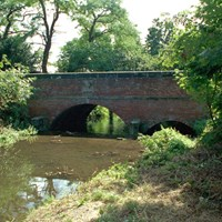 Bridge over River Swarbourn, Town Hill, Yoxall, Staffordshire