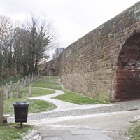 City Wall between Morgans Mount and Northgate, Chester, Cheshire